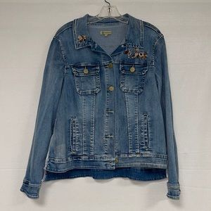 Democracy Embroidered Women's Jean Jacket L